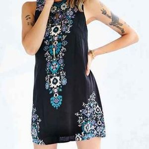 Urban Outfitters Black Printed Sleeveless Dress XS